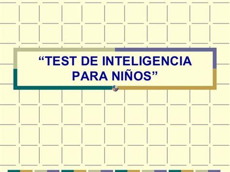 Test de inteligencia valentine