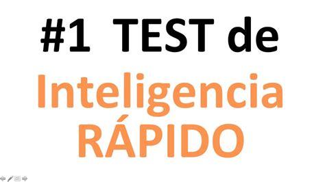 ¡Test de inteligencia y agilidad mental!  corto y rápido ...