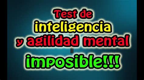 Test de inteligencia y agilidad mental imposible ...