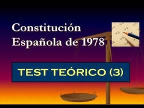 Test teórico: Constitución Española de 1978  3    YouTube
