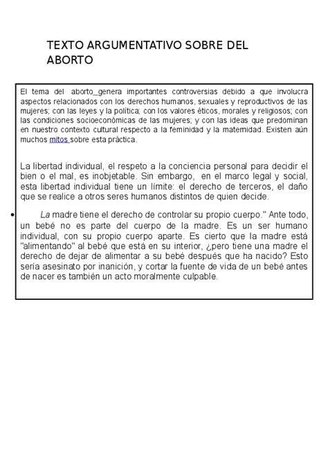 Texto Argumentativo Ejemplo Corto Con Sus Partes   Ejemplo ...