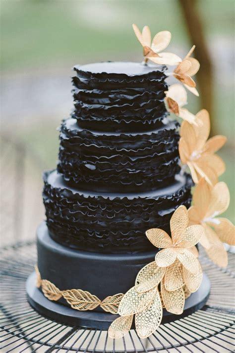 Textured Black Wedding Cake   Chic Vintage Brides : Chic ...