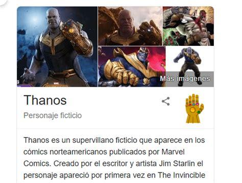 Thanos desaparece Google con un chasquido y el poder del ...