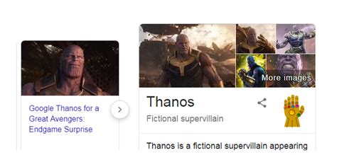 Thanos easter egg dropped by Google as  Avengers: Endgame ...
