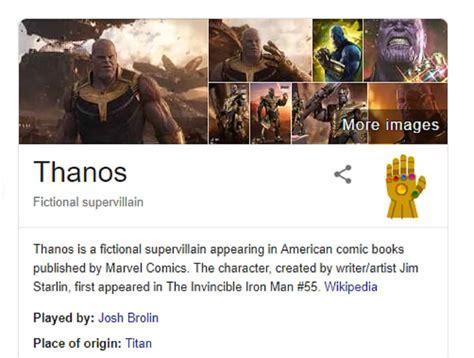 Thanos Easter egg   thanos infinity gauntlet snap google ...