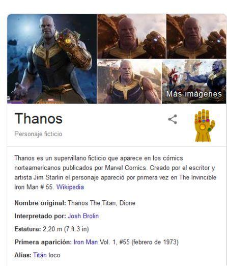 Thanos: El fantástico homenaje de Google a  Los Vengadores ...