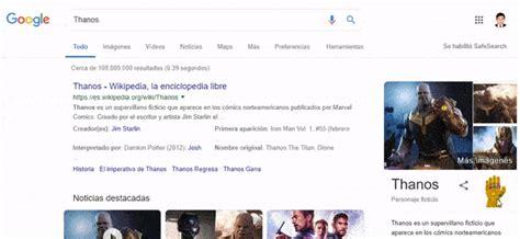 Thanos en Google: Mira lo que pasa si buscas  Thanos  en ...