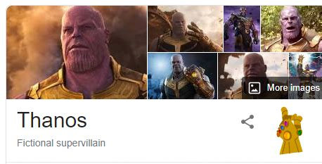 Thanos finger snap for Google search result.   WormCorp.in