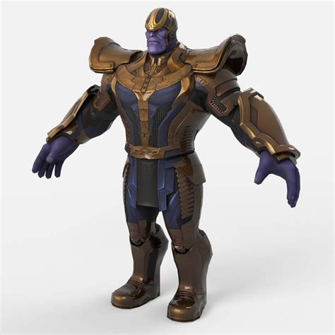 Thanos from Marvel End Time Arena 3D Model