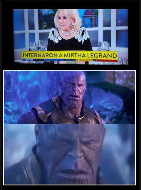 Thanos se arrepiente de chasquear los dedos :  : dankgentina