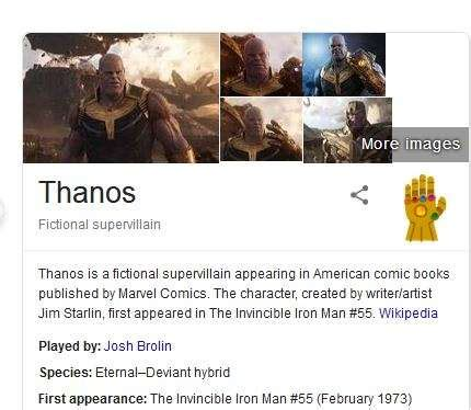 Thanos snap and half of Google search result is gone ...