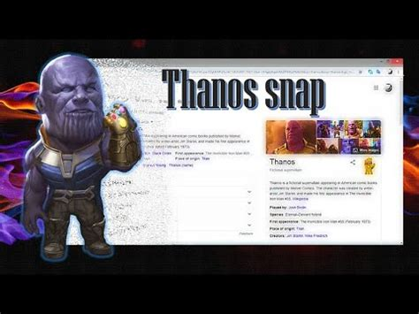 Thanos snap   google tricks   YouTube