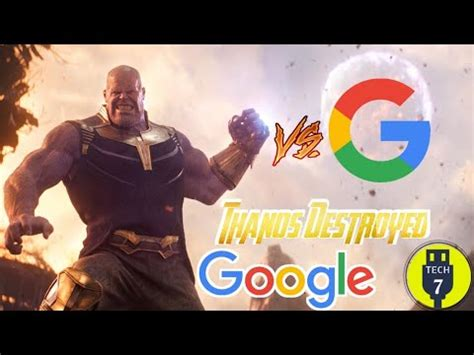 Thanos Snap is Destroyed Google   ThanosDestroyed   Google ...