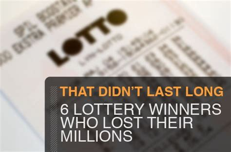 That Didn't Last Long: 6 Lottery Winners Who Lost Their ...