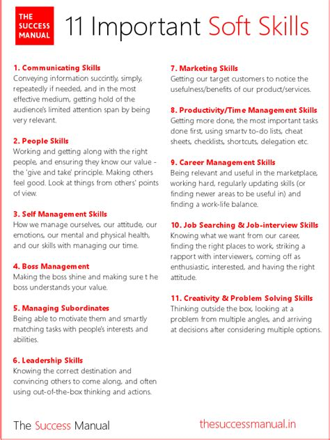 The 11 Kinds Of Soft Skills You Need To Succeed  In Career ...