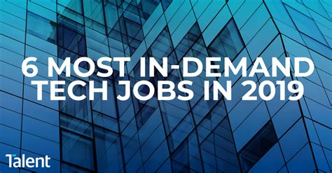 The 6 most in demand tech jobs in 2019   Talent International