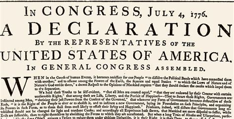 The American Declaration of Independence of July 4th, 1776 ...