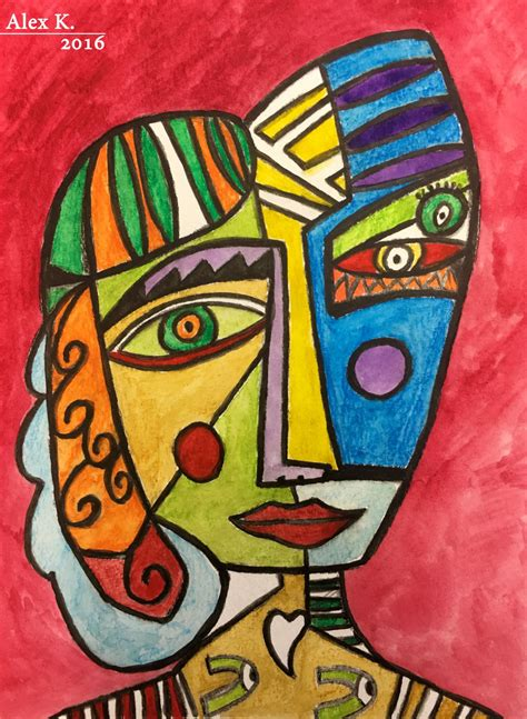 The Art of Alexander Klein — Like Picasso :  Cubism face ...