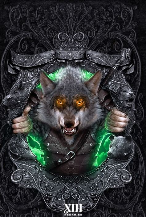 The art of Nekro   The Rise of the Wolf  Wereworld, #1  by ...