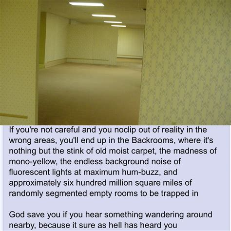 The Backrooms : nosleep