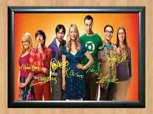 The Big Bang Theory Cast Full Signed Autographed A4 Print ...