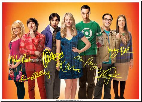 THE BIG BANG THEORY FULL CAST SIGNED AUTOGRAPH PHOTO PRINT ...