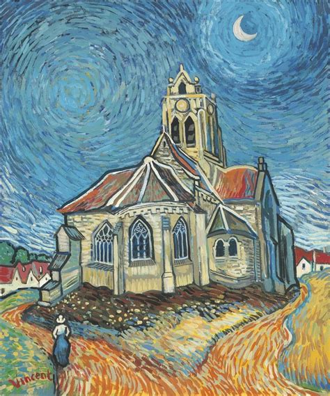 The Church at Auvers in the Style of Vincent Van Gogh ...