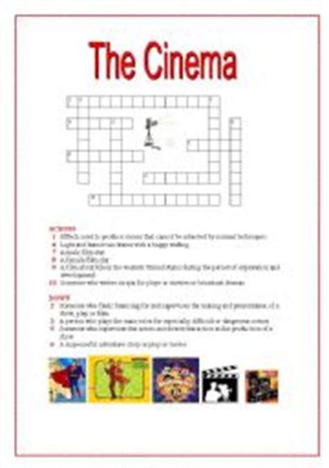 The cinema crosswords  with key