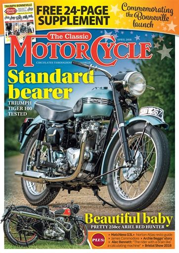 The Classic MotorCycle Magazine   April 2018 Subscriptions ...