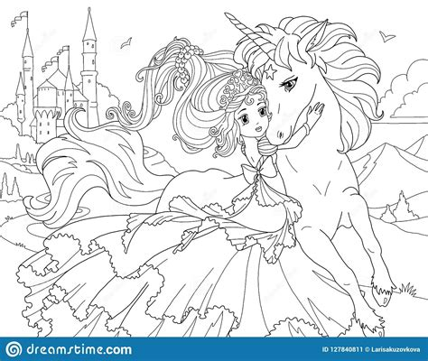 The Coloring Pages Unicorn Princess   Coloring Pages