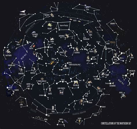the constellations of the northern sky fine art print by ...