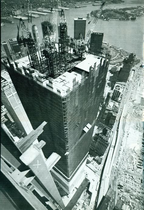 The construction of the World Trade Centre, New York City ...