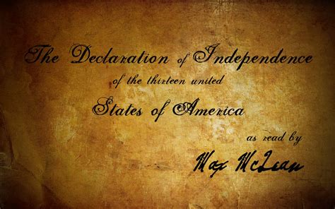 The Declaration of Independence  as read by Max McLean ...