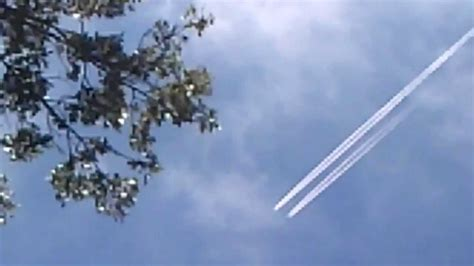 The difference between a chemtrail and a contrail.   YouTube