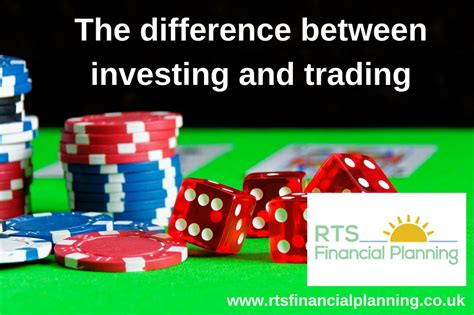 The difference between investing and trading and how you ...