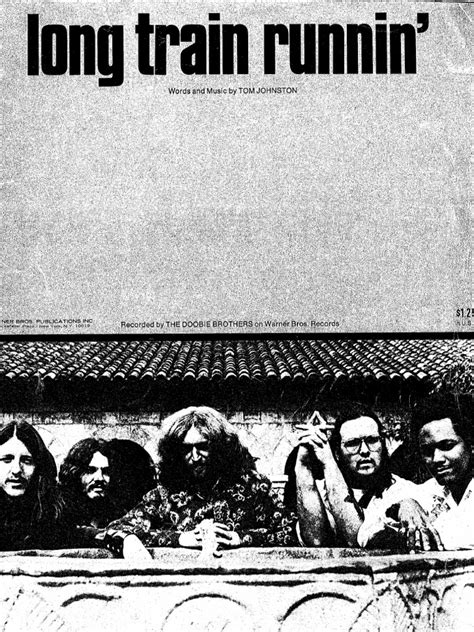 THE DOOBIE BROTHERS   LONG TRAIN RUNNIN   1973   SHEET MUSIC