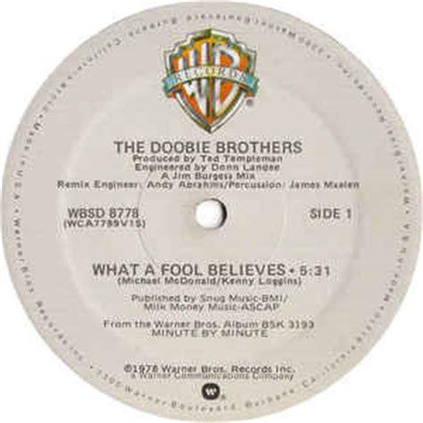 The Doobie Brothers   What A Fool Believes  Vinyl, 12 , 33 ...