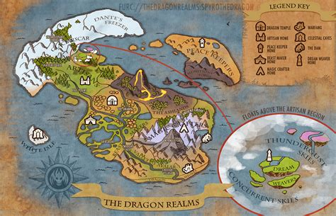 The Dragon Realms Map by weremagnus on DeviantArt