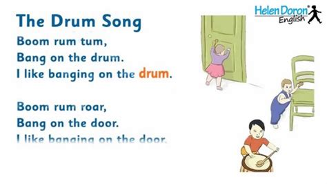 The Drum Song   English Songs for Babies, with Lyrics ...