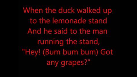 The duck song Lyrics!   YouTube