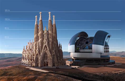 The E ELT compared to the Sagrada Família in Barcelona ...