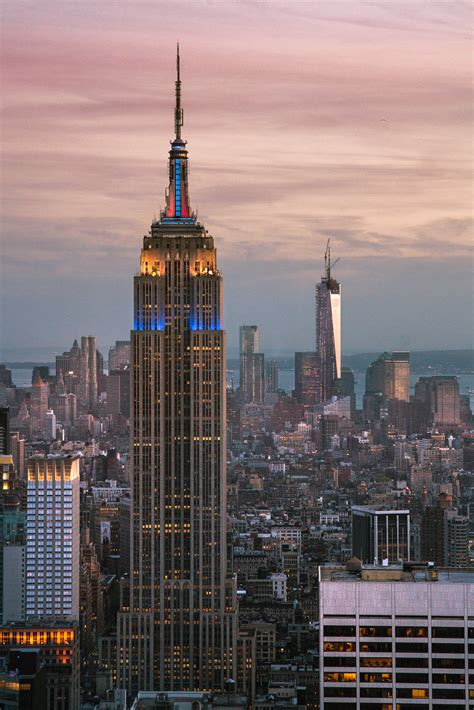 The Empire State Building and One World Trade Center ...
