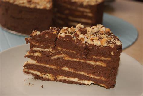 THE FASHION SHOW: Tarta de galletas y chocolate.
