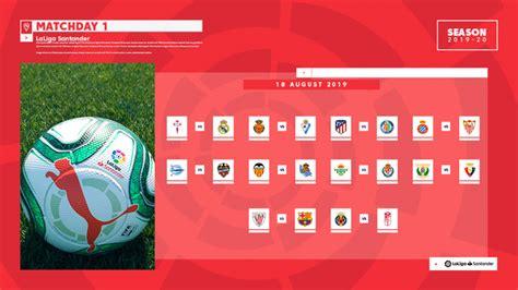The fixture list for LaLiga Santander 2019/2020 | News ...