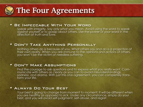The Four Agreements: A Practical Guide to Personal Freedom ...
