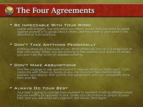 The Four Agreements | quotes & words | Pinterest