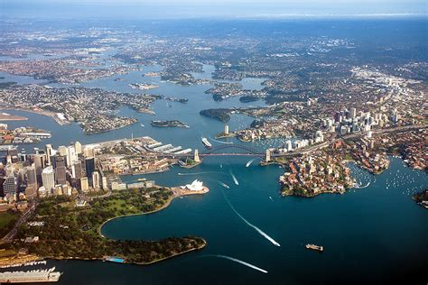 the Harbour City | Sydney harbour looking west, courtesy ...