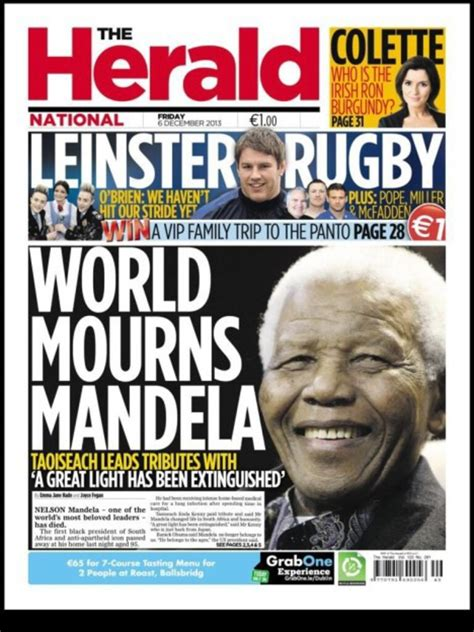 The Herald   Nelson Mandela   newspaper front covers ...