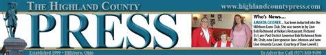 The Highland County Press | Hillsboro, Ohio | Ohio ...