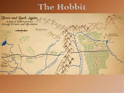 The Hobbit   Mapping Bilbo s Journey | The Hobbit Unit ...